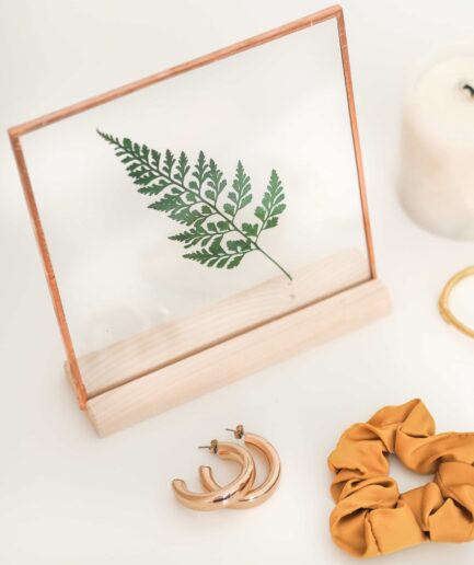 copper bakır şoklanmış bitki çerçevesi