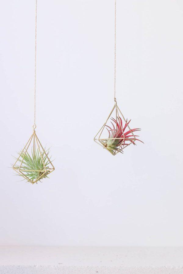 Pirinç Brass Diamond Himmeli Airplant Askısı