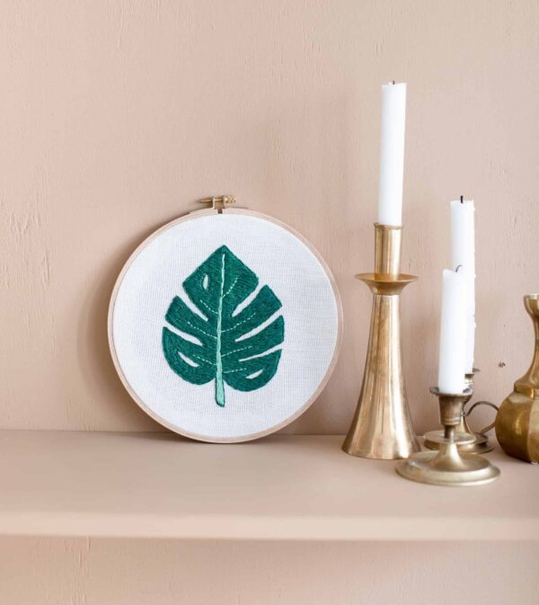 embroidery el nakışı monstera deliciosa