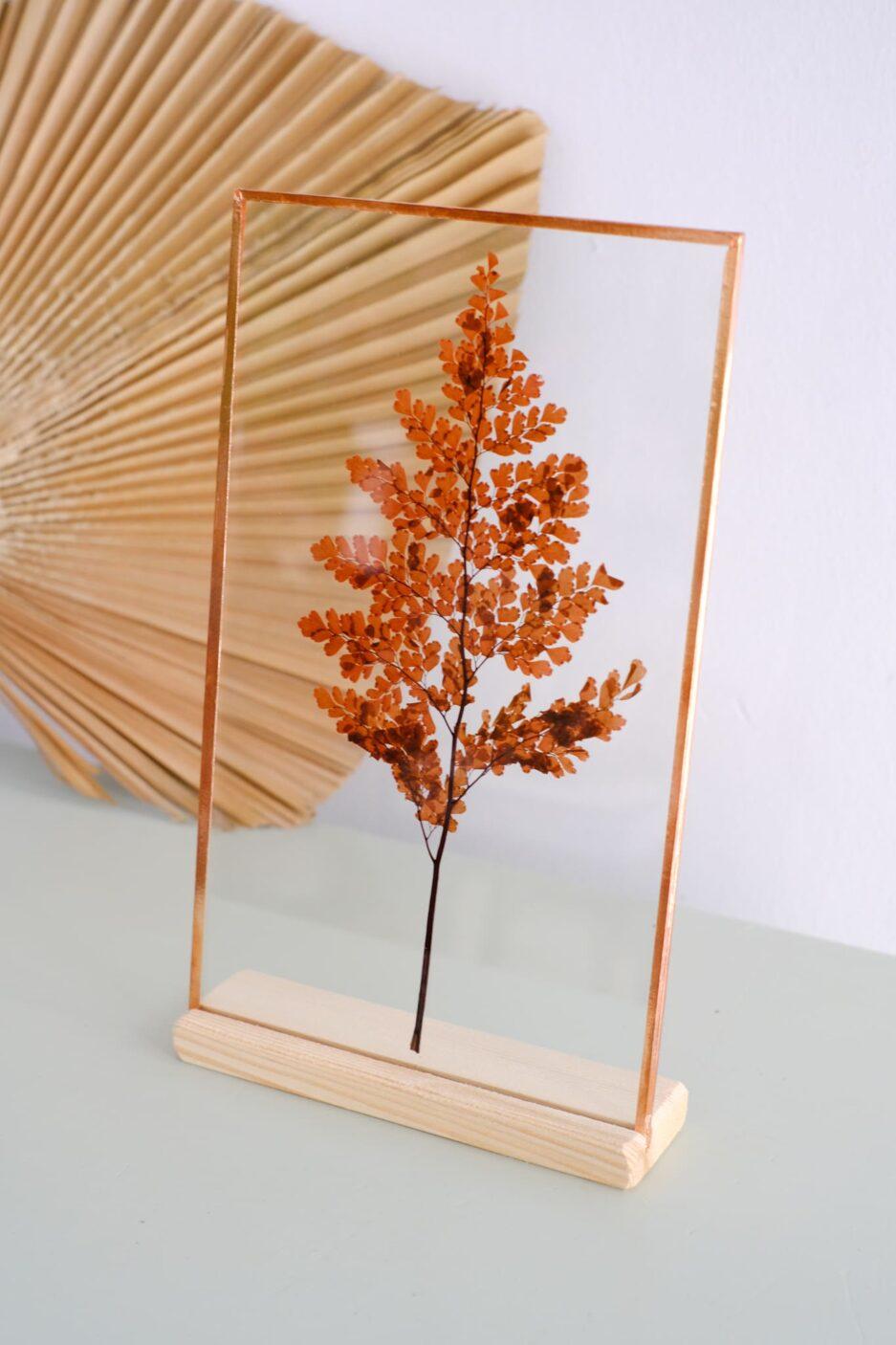 kırmızı adianthum copper frame çerçeve